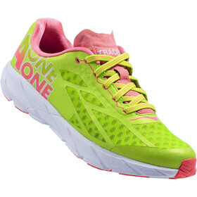Hoka One One W's Tracer Shoes Bright Green/Neon Pink